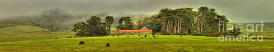 Photograph - California Coastal Farm Panorama by Adam Jewell