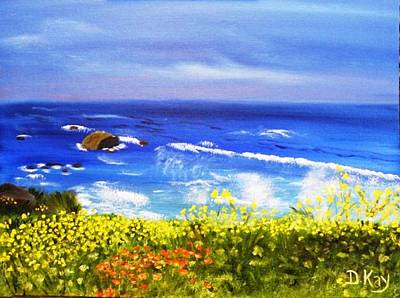 Painting - California Coastline Big Sur Ca by  Debbie
