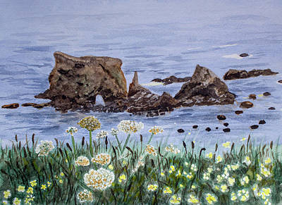 Painting - California Coastline by Dorothy Riley