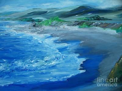 Beach Landscape Drawing - California Coastline Impressionism by Eric  Schiabor