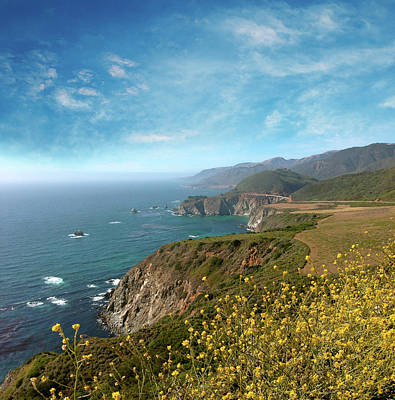 Photograph - California Coastline by Les Cunliffe