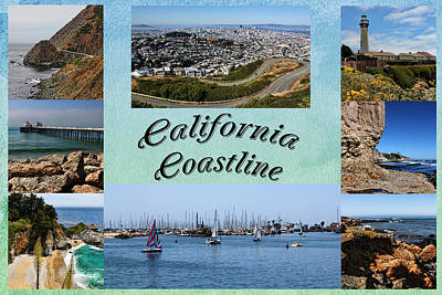 Photograph - California Collage by Judy Vincent