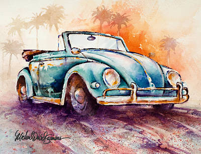 Convertible Painting - California Convertible by Michael David Sorensen