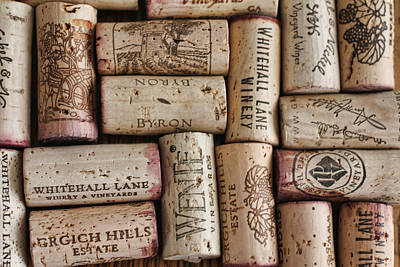 Cabernet Digital Art - California Corks by Nancy Ingersoll