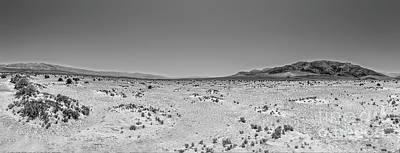 Photograph - California Desert - Death Valley Nothingness Bw by Dan Carmichael