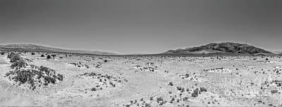 Photograph - California Desert - Death Valley Nothingness Bw by Dan Carmichael