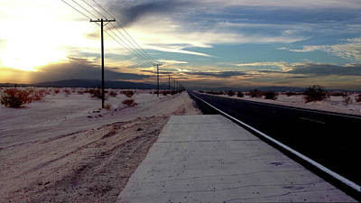 Photograph - California Desert Highway by Christopher Woods