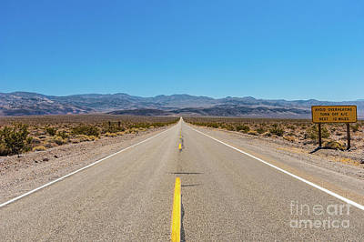 Photograph - California Desert -  Miles From Nowhere by Dan Carmichael