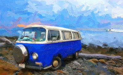 So Cal Digital Art - California Dreamin Blue by Ron Regalado
