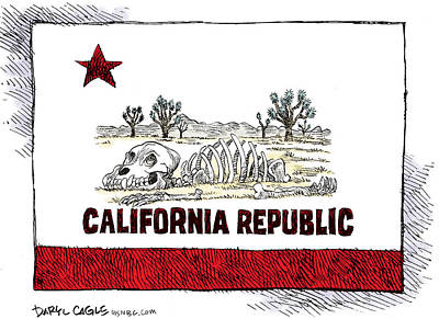 Drawing - 	California Drought by Daryl Cagle