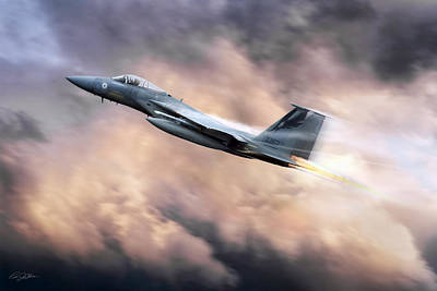 F15 Wall Art - Digital Art - California Eagle by Peter Chilelli