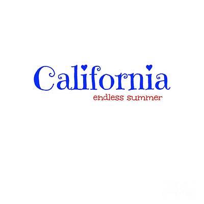Digital Art - California Endless Summer by Leah McPhail