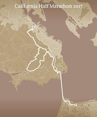San Francisco Marathon Digital Art - California Endurance Half Marathon #1 by Big City Artwork