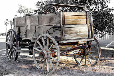 Photograph - California Farm Wagon by Gene Parks