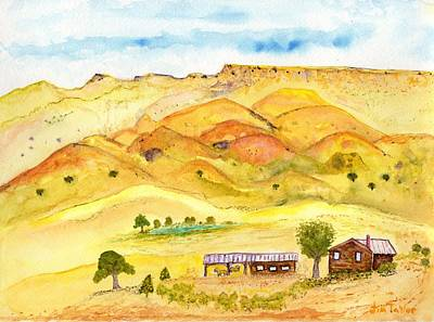 Painting - California Foothill Homestead by Jim Taylor