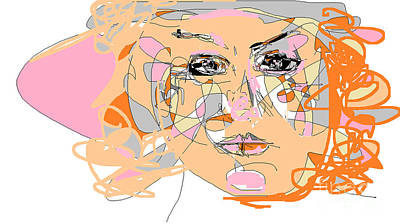 Digital Art - California Girl by Nancy Kane Chapman