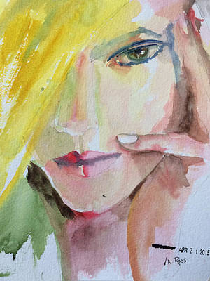 Painting - California Girl by Vicki Ross
