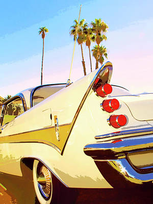 Car Auction Photograph - California Gold Desoto Palm Springs by William Dey