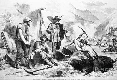 California Gold Rush, 1856 Art Print by Granger