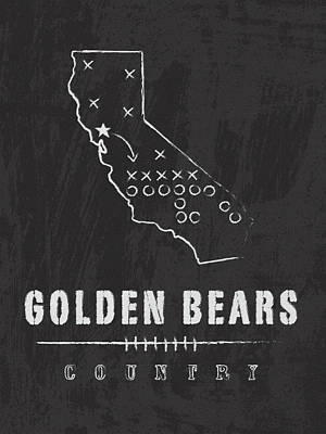 California Golden Bears / Ncaa College Football Art / Berkeley Art Print by Damon Gray