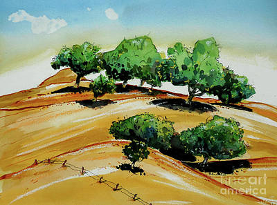 Painting - California Golden Hills by Terry Banderas