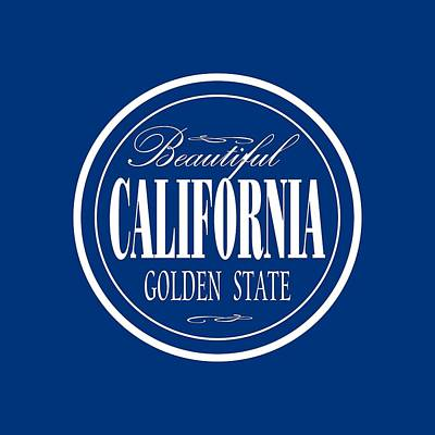 Mixed Media - California Golden State Design by Peter Potter