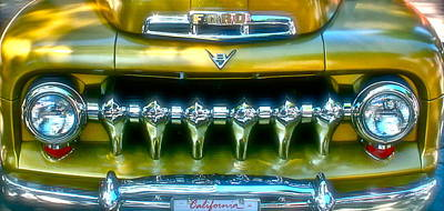 Gold Ford Photograph - California Grill by Gwyn Newcombe