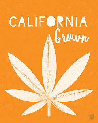 Digital Art - California Grown Cannabis Orange- Art By Linda Woods by Linda Woods