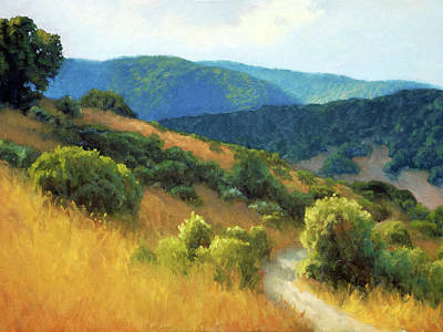 Landscapes Royalty-Free and Rights-Managed Images - California Hills by Armand Cabrera