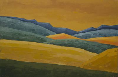 Painting - California Hills by John Farley