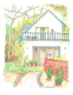 California House Art Print by Carlos G Groppa