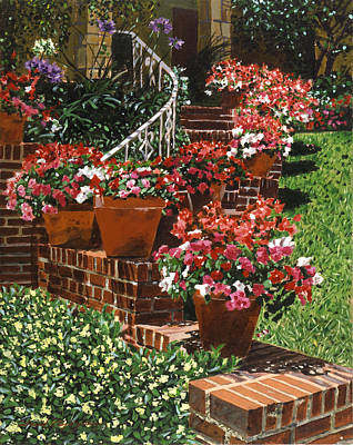 Terra Painting - California Impatiens by David Lloyd Glover