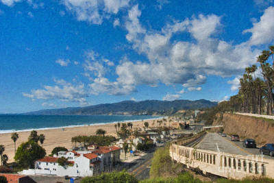 Photograph - California Incline Palisades Park Ca by David Zanzinger