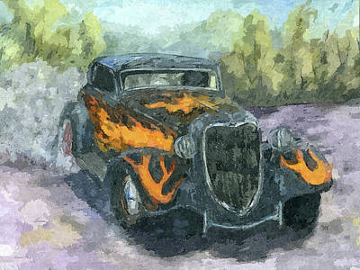 Digital Art - California Kid Burnout by David King