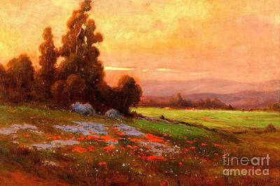 Painting - California Landscape With Poppies And Lupine 1885 by Peter Gumaer Ogden Collection