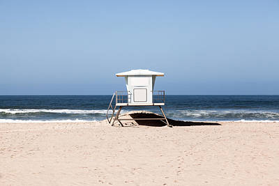 California Lifeguard Tower Photo Print by Paul Velgos
