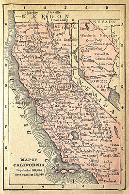 California Map Print by Kitty Ellis