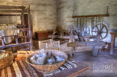 California Mission La Purisima Weavers Studio Art Print