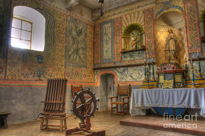 California Missions La Purisima Alter Art Print