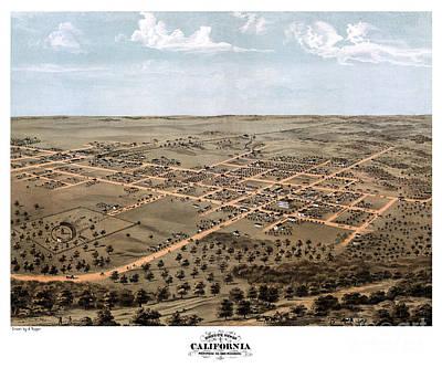 Old Map Painting - California - Missouri - United States - 1869 by Pablo Romero