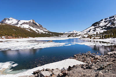 Photograph - California Mountains -  Snow Filled Lake Tioga by Dan Carmichael