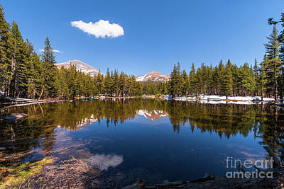 Photograph - California Mountains -  Snowy Lake On Tioga Road by Dan Carmichael