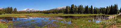 Photograph - California Mountains -  Tuolumne Cathedral Lakes Panorama by Dan Carmichael