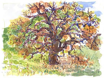 Painting - California Oak In Winter by Judith Kunzle
