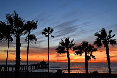 Photograph - Manhattan Beach Sunset by Diane Lent