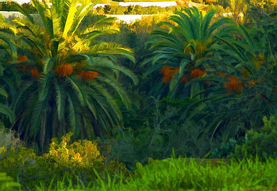 Digital Art - California Palms by Waterdancer