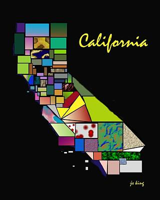Patchwork Quilts Digital Art - California Patchwork by Jacquie King