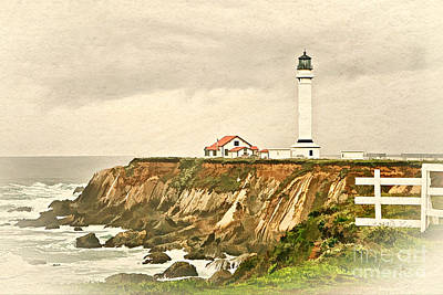 Photograph - California - Point Arena Lighthouse by Gabriele Pomykaj