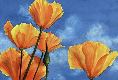 California Poppy Painting - California Poppies by Karen Wright