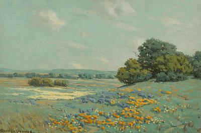 California Poppy Field Art Print by Granville Redmond